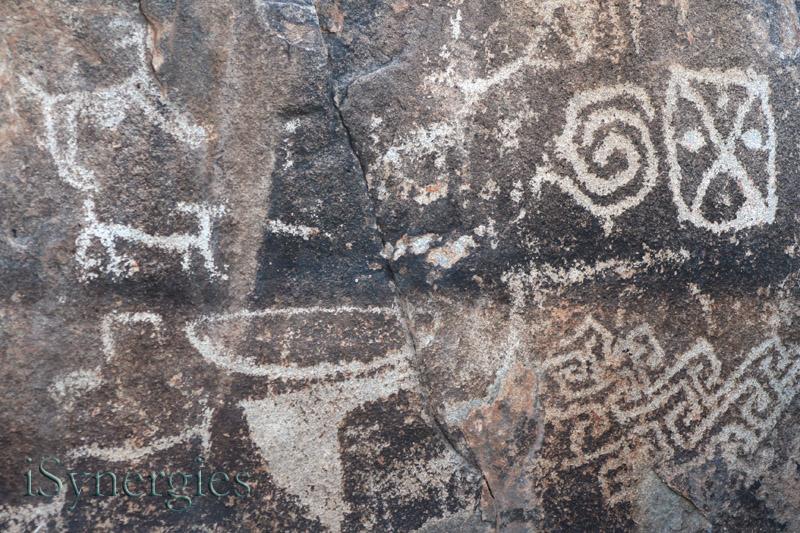 Antiguos petroglifos en Rancho Puerto Blanco